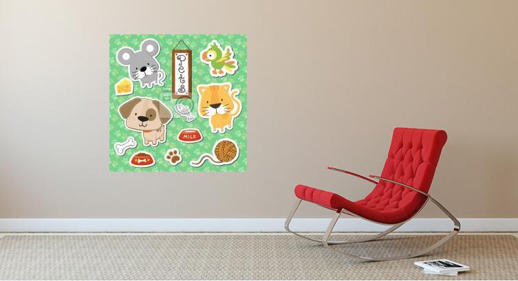 Hodně štěstí, zdraví! - plakáty pro děti v narozeninové aranžaci